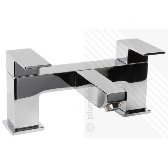Arian 'Tulsi' Square Dual Lever Bath Filler Mixer Tap in Chrome